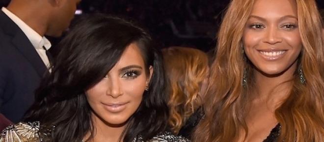 Kim Kardashian et Beyoncé aux Grammy Awards.