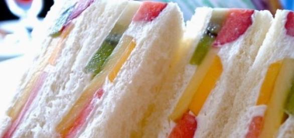 Los sandwiches frutales son muy populares en Japón