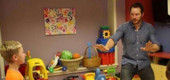Pratt zrobił miłą niespodziankę chorym dzieciom.