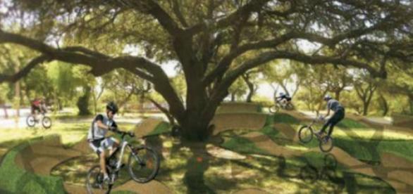"Fotomonataje del ""Bike Park"" en Córdoba"