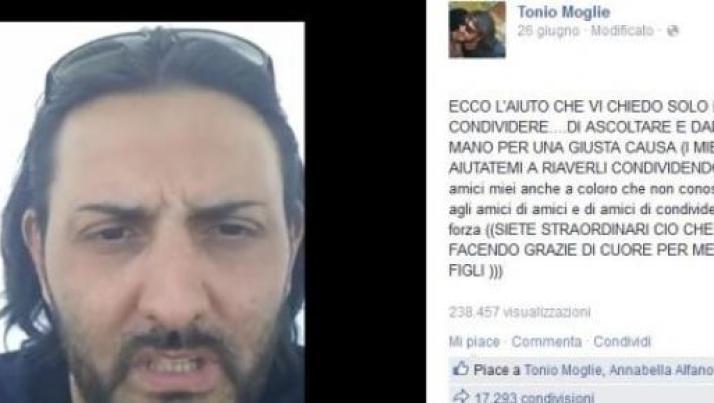 Papà napoletano non vede i figli da 5 anni, il video-appello su Facebook diventa virale