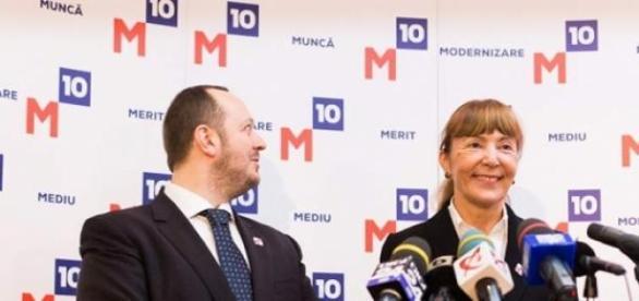Cei doi membri de bază ai noului partid.