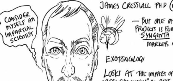 Dr James Cresswell, specialist in bee studies