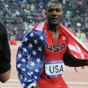 Gatlin continued his winning form in Rome