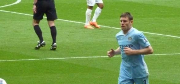 James Milner against Arsenal in EPL.