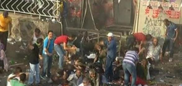 2 dead, 100 wounded from bomb attack at HDP rally.