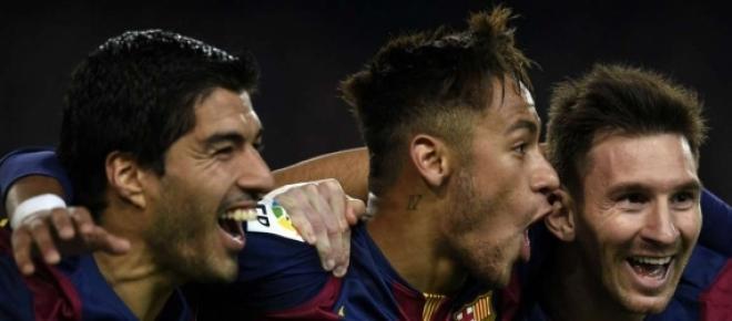 Trio MSN, conquistando mais um título para o Barça
