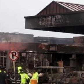 A tragédia helyszíne az accrai városközpont