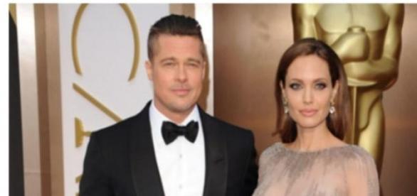"Brad Pitt i Angelina Jolie w ""Bye the Sea"""