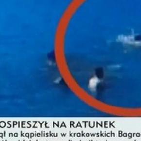 Męzcyzna utonął na ocach gapiów, TVP Info