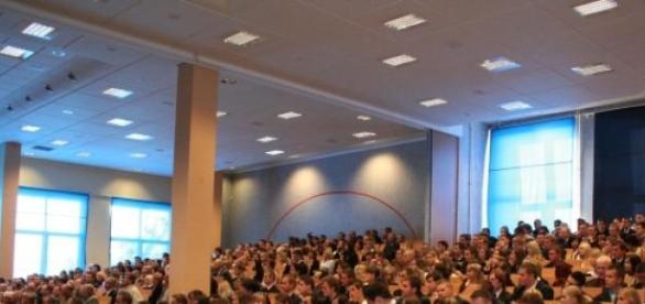 Sala wykładowa w jednej ze szkół wyższych w Polsce