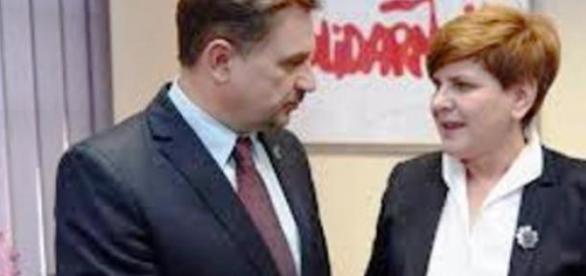 Szef Solidarności Duda i wiceszef PiS Szydło