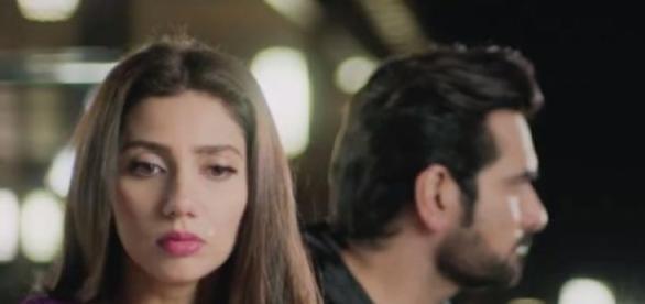 Mahira Khan and Humayun Saeed in 'Bin Roye'