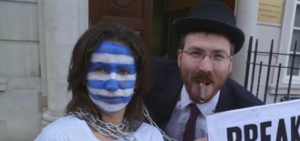 Protest de anulare a datoriei Greciei