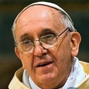 Papa Francisc într-o luare de cuvânt publică