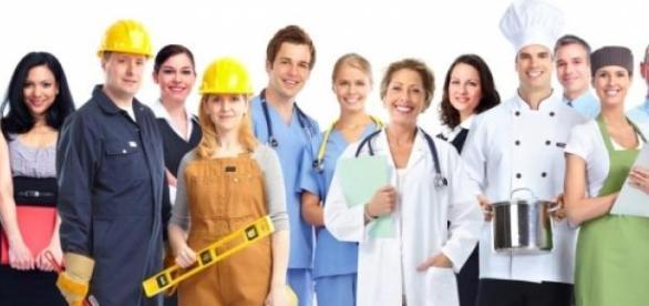 Representación de las diferentes profesiones
