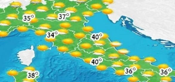 Val de căldură foarte mare în Italia