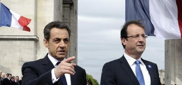 Sarkozy et Francois Hollande - economie