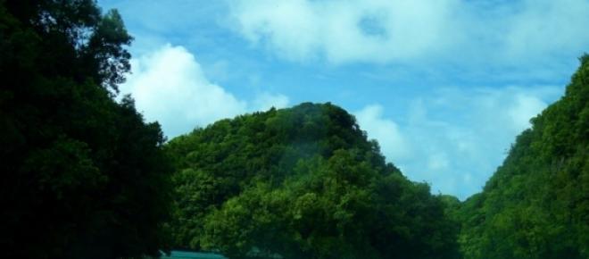 Belleza natural, islas volcánicas en Palaos