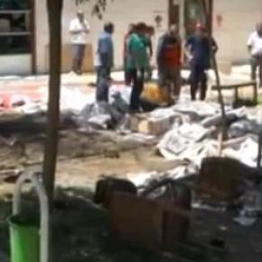 Locul atentatului din Turcia după explozie