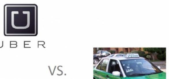 UBER contra los taxis convecionales.
