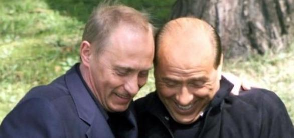 Silvio Berlusconi alaturi de presedintele Rusiei