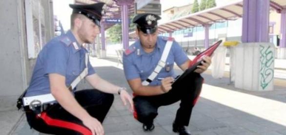 Carabinierii la locul faptei
