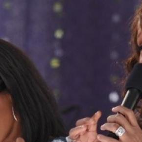 Bobbi Kristina Brown cu mama ei Whitney Houston