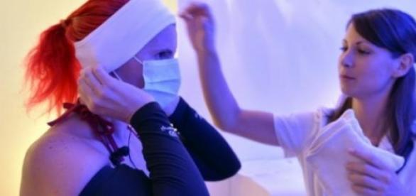 Séance de cryothérapie, Rennes le 25 juin 2015