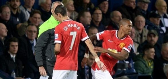 Ashley Young and Record signing Angel Di Maria