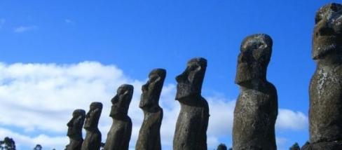 Húsvét-sziget Moaik kőfejek