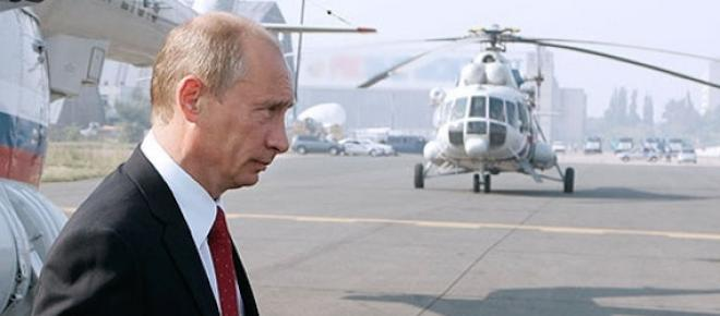 Путин часто пользуется вертолетом. Фото (с) НТВ
