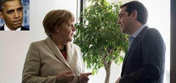 Tsipras și Merkel consiliați de Obama?