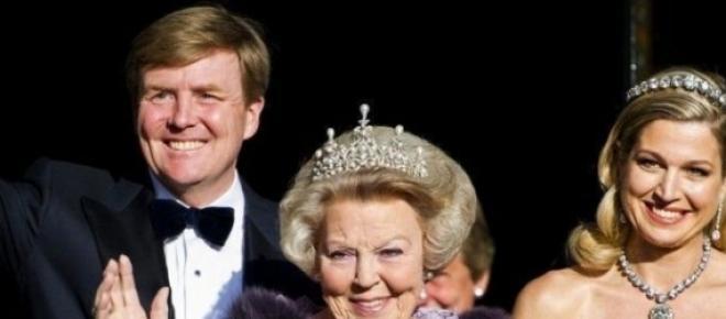 Willem Alexander Maxima e la regina Beatrice
