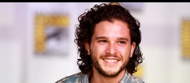 Kit Harrington with his Jon Snow hairstyle