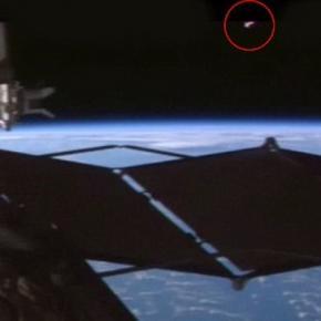 Obiect zburator misterios filmat langa ISS
