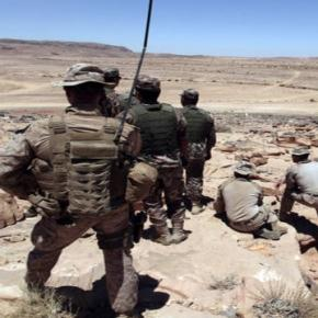 Des marines américains à des exercices militaires