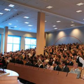 Polscy studenci podczas wykładu