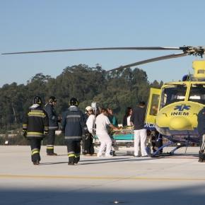 Transferência das vítimas para o Porto.