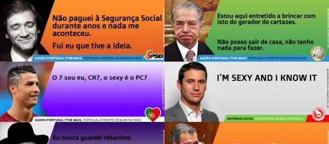 Site permite a qualquer pessoa criar os seus cartazes políticos