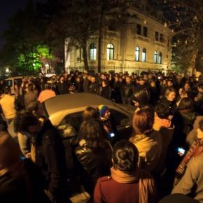 Protest la votul din noiembrie 2014
