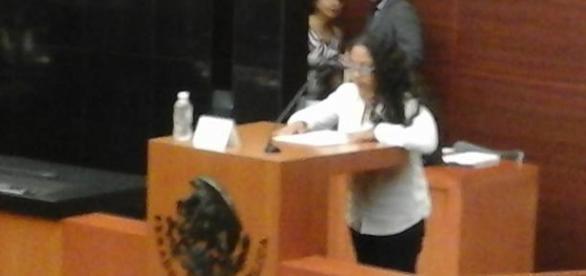 Nadin Reyes Maldonado en el Senado de la República