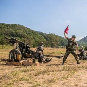 Baterie de artilerie din Coreea de Sud