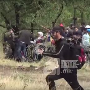 Imigranții au rupt cordoanele de securitate