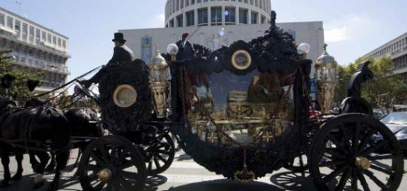 The funeral of boss Vittorio Casamonica, Rome.