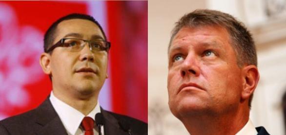 Victor Ponta şi Klaus Johannis (Sursa: www.bzv.ro)