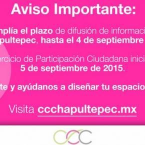 Pagína de CCC anuncia cambio en consutla ciudadana