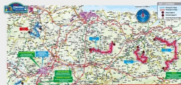 Mapa de los tramos del 52 Rallye