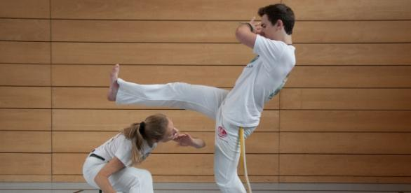 Beim Capoeira ist Konzentration gefragt.