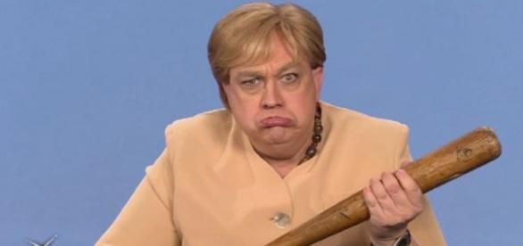 Oliver Kalkofe als Figur Angela Merkel auf Tele 5